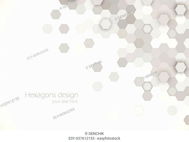 Hexagons background abstract science design vector illustration
