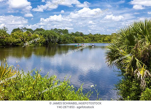 Deer Prairie Creek in Deer Prairie Creek Preserve in Venice Florida