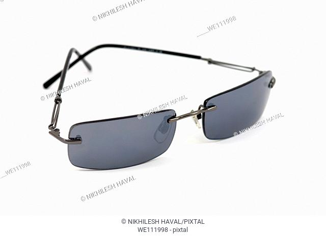 Grey Sun glasses on white background