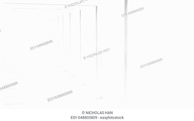 The 3d rendering of White Clear Blank Subtle Geometric Abstract