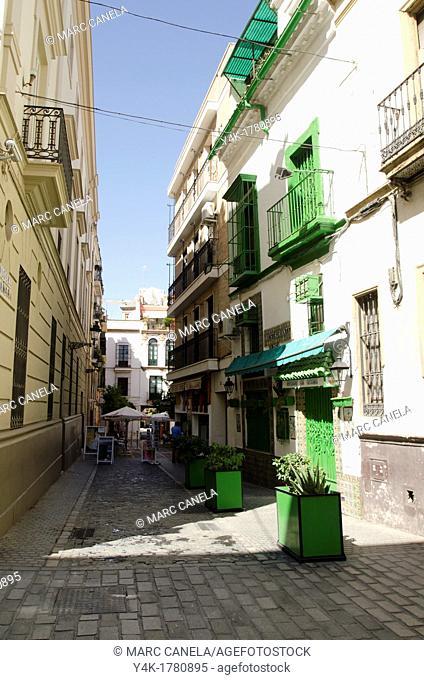 Europe, Spain, Sevilla, Street details, urban Style, Near Real Alcazar de Sevilla