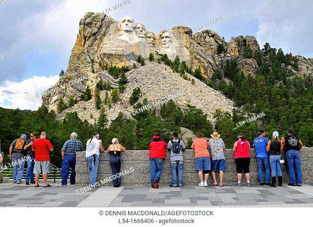 Visitors to Mount Rushmore National Park Rapid City South Dakota