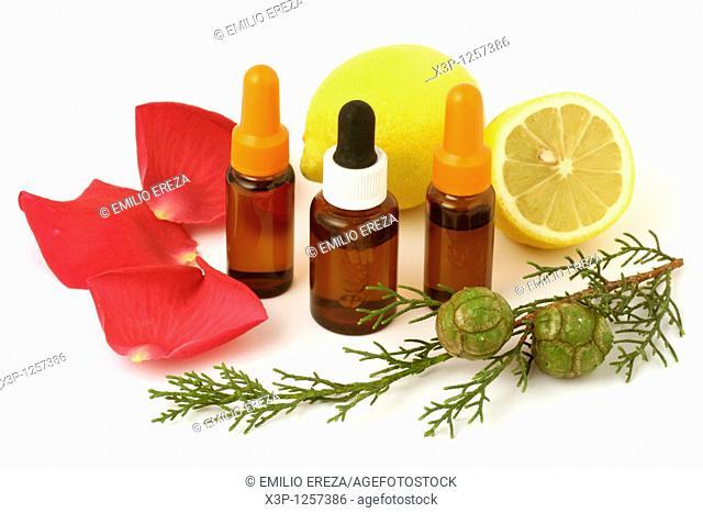 Oil essences  Lemon, rose and cypress