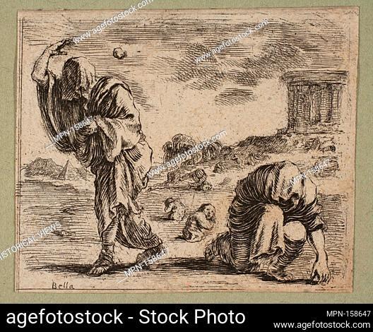 Deucalion et Pyrrha. Artist: Etched by Stefano della Bella (Italian, Florence 1610-1664 Florence); Artist: Designed by Jean Desmarets de Saint-Sorlin (French