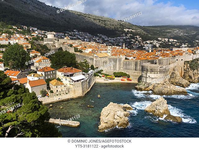 Looking over Dubrovnik, Dubrovnik, Croatia, Europe