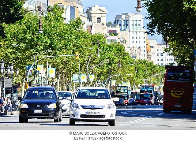 Passeig de Gràcia. Barcelona, Catalonia, Spain