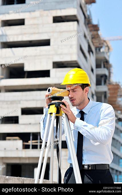 architect on construction site