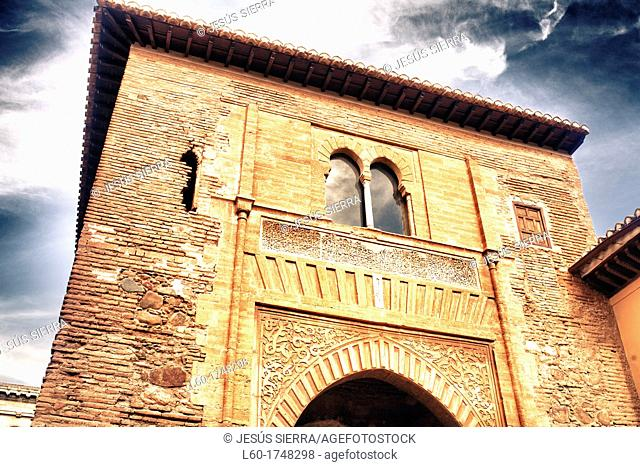 Puerta del Vino, La Alhambra, Granada, Andalucia, Spain