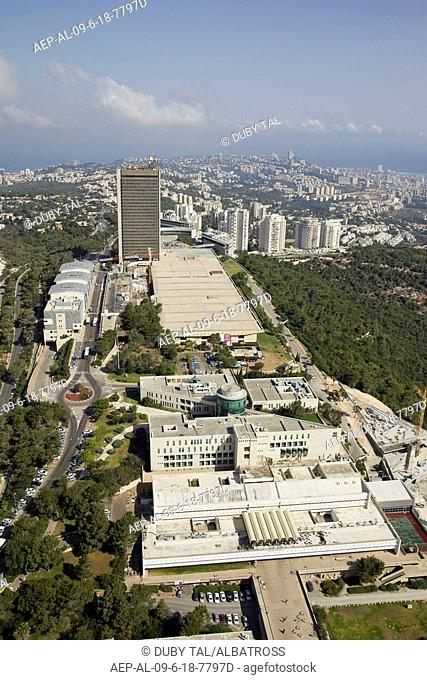 Aerial photograph of the campus of Haifa's Uviversity of mount Carmel