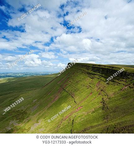 Picws Du and Bannau Sir Gaer, Black mountain, Brecon Beacons national park, Wales