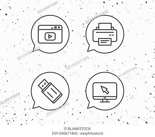 Usb Grunge Icon Stock Photos And Images