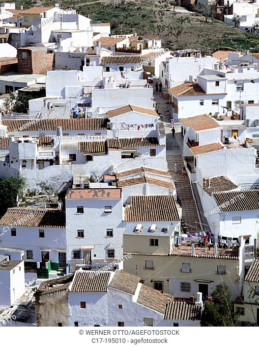 Spain, Andalusia, Velez-Malaga, view across the roofs