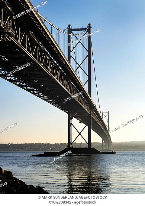 The Forth Road Bridge from North Queensferry North Queensferry Fife Scotland