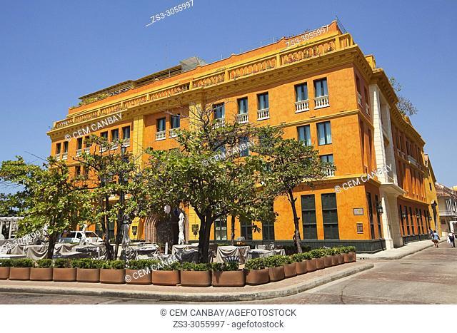 View to the Convento De Santa Teresa Hotel at the historic center, Cartagena de Indias, Bolivar, Colombia, South America