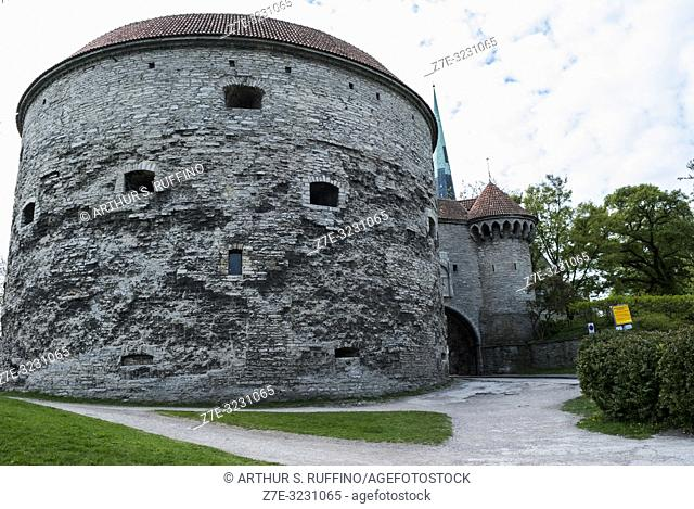 Fat Margaret Tower and the Great Coastal Gate, Old Town, Tallinn, Estonia, Baltic States