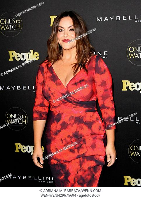 People's One's To Watch Event Celebrating Hollywood's Rising & Brightest Starts held at E.P. & L.P. in Los Angeles Featuring: Katy Mixon Where: Los Angeles