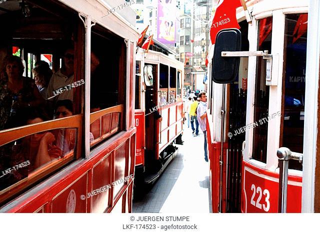 Tram, Istiklal Caddesi, Istanbul, Turkey