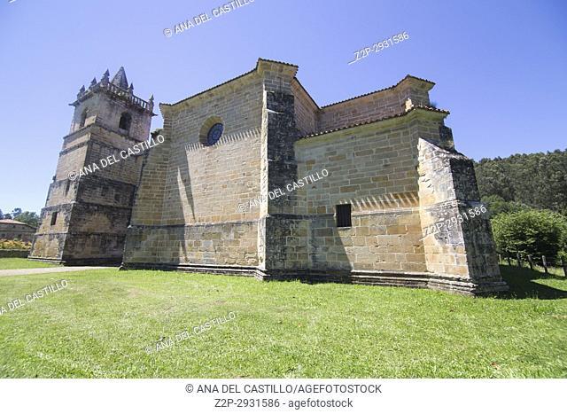 Collegiate church in Ciguenza Cantabria Spain