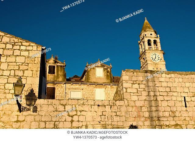 Romanic Church of St  Jurje, St  George, Kut, Vis, Dalmatia, Croatia