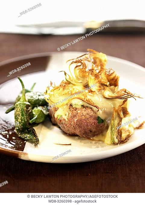 hamburguesa sin pan con verduras