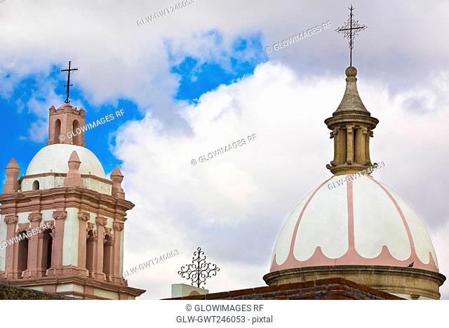 High section view of a church, Iglesia De Nuestra Senora De Belen, Real De Asientos, Aguascalientes, Mexico