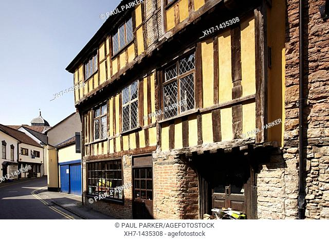 Half timbered house in Axminster, Somerset, England, UK