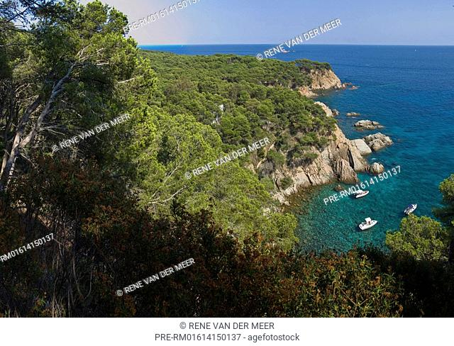 Rocky cost at the Costa Brava, Catalunia, Spain, Europe