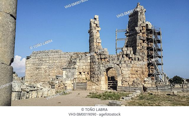 Perge Hellenistic Gate. Old capital of Pamphylia Secunda. Ancient Greece. Asia Minor. Turkey