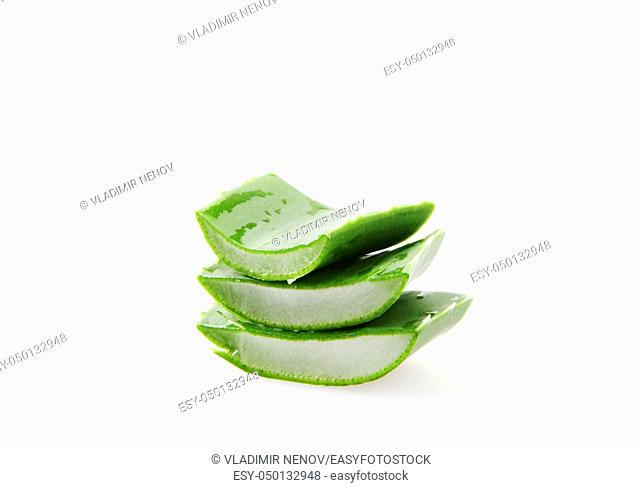 Aloe Vera On White Background