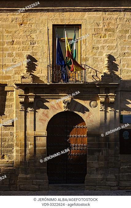 Building of the old university. Baeza, Jaén province. southern Andalusia. Spain Europe