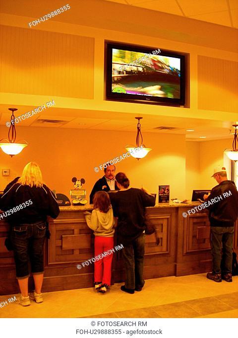 timeshare check-in, Orange Lake Resort and Country Club, Orlando, Florida, FL, FLA, Kissimmee, Lake Buena Vista