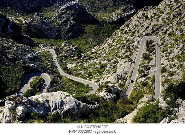 Serpentine road to Sa Calobra, Mallorca Spain