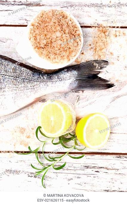 Mediterranean seafood background