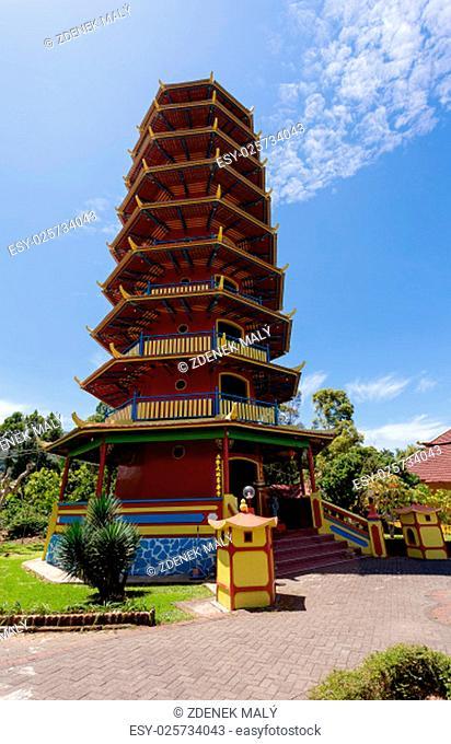 mous tourist Beautifull Pagoda Ekayana, fast place tourist near Tomohon, trip from Manado, North Sulawesi Utara
