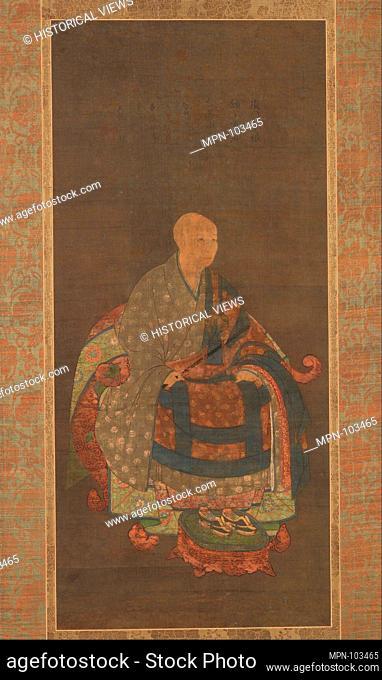 Artist: Unidentified Artist Japanese; Period: Nanbokucho period (1336-92); Date: ca. 1383; Culture: Japan; Medium: Hanging scroll; ink, color