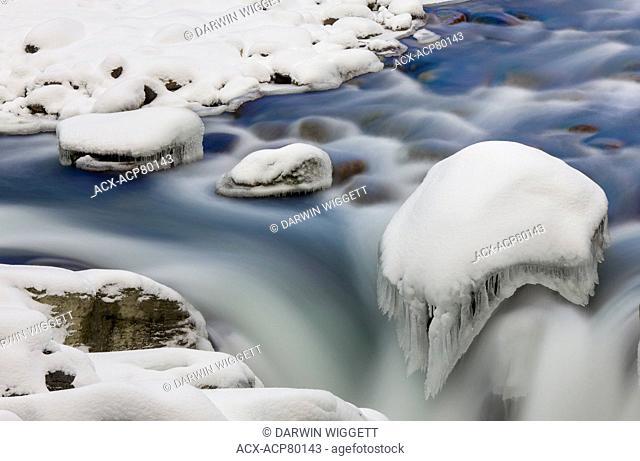 Sunwapta River above Sunwapta Falls, Jasper National Park, Alberta, Canada