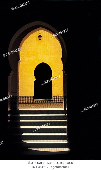 Mausoleum of Moulay Ismaïl at Meknes. Morocco