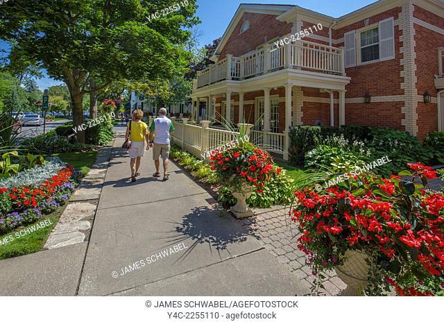 Village of Niagara on the Lake on the Niagara River in Ontario Canada