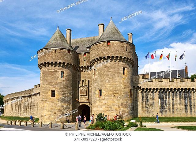 France, Loire-Atlantique, Guérande, medieval city, Saint Michel door from 15 century