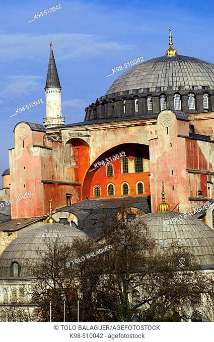 St. Sophia Mosque (c. 537), Sultanahmet, Istanbul. Turkey