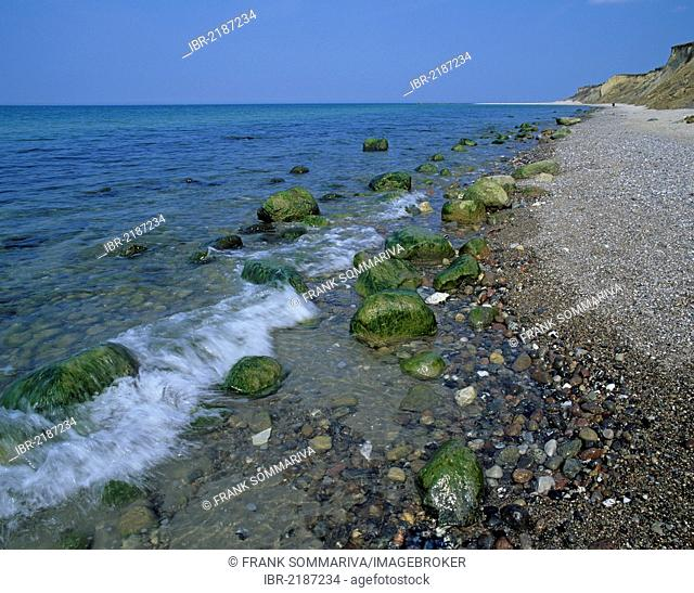 Rocky beach near Ahrenshoop, Fischland, Mecklenburg-Western Pomerania, Baltic Sea, Germany, Europe