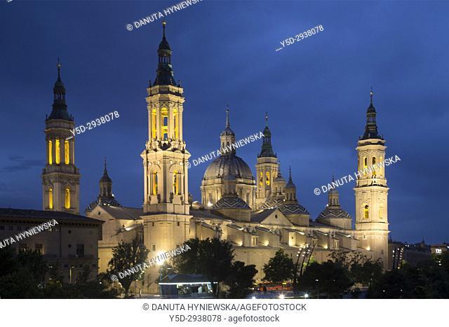 Catedral-Basílica de Nuestra Señora del Pilar de Zaragoza, Cathedral-Basilica of Our Lady of the Pillar, Zaragoza, Saragossa, Aragón, Spain, Europe