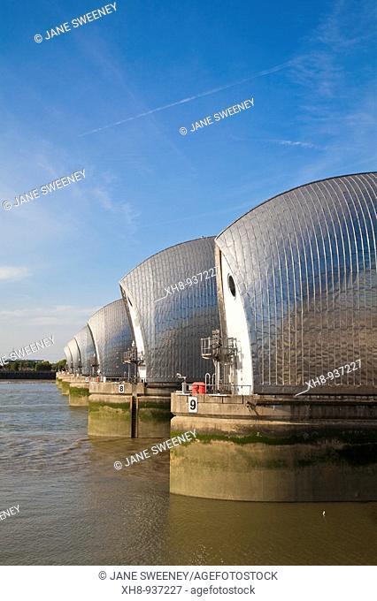 Thames Barrier, Greenwich, London, England, UK
