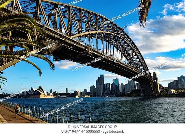 Sydney harbor bridge and Opera House, Sydney, Australia