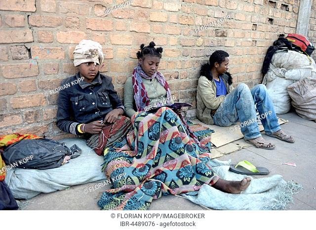 Homeless youth on the street, Fianarantsoa province, Madagascar