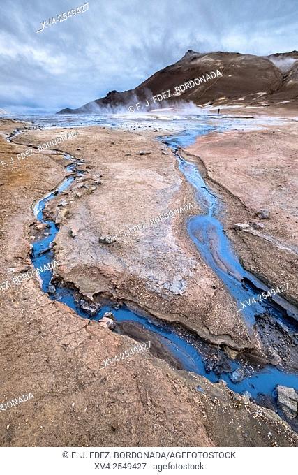 Namafjall geothermal area. Þjóðvegur. Iceland
