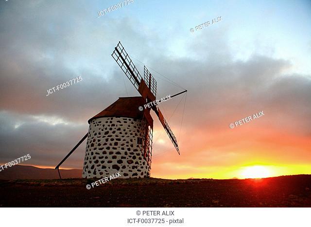 Spain, Canary islands, windmill of Villaverde
