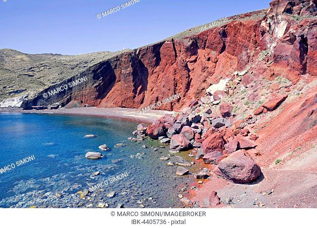 Red Beach, Santorini, Cyclades Islands, Greece