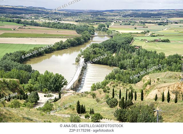 Panorama from Toro city in Zamora province Castile Leon Spain. Duero river