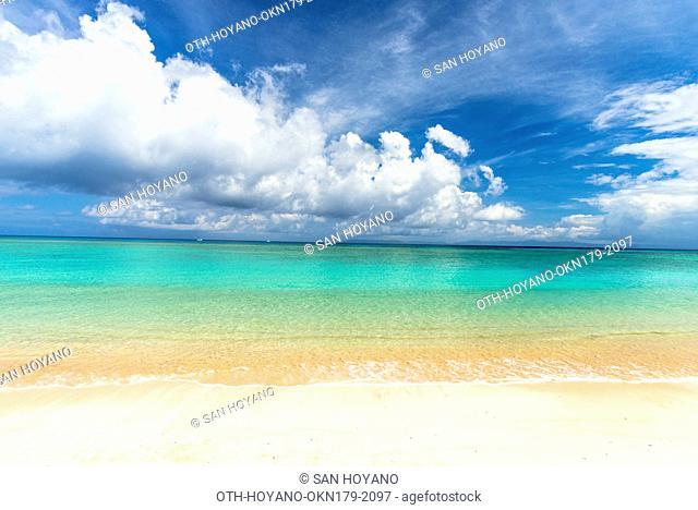 Nishihama beach in Hateruma island, Japan's most southern inhabited islands, Okinawa, Japan